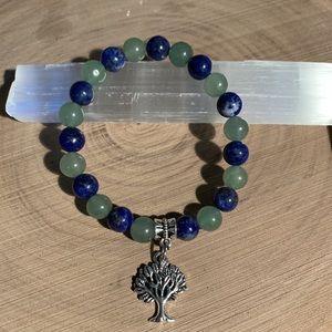 Jewelry - Aventurine and Lapis Lazuli Crystal bracelet